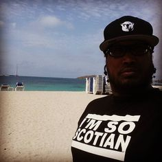 In st. Maarten letting them know that I rep for my scotians. And rocking my North Side of the city Hat. by dttheartist