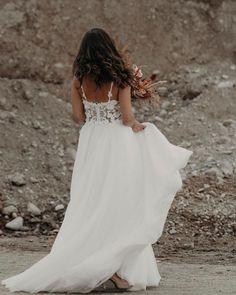 18 Absolutely Gorgeous Destination Wedding Dresses ❤ destination wedding dresses a line with spaghetti straps lace top emmy_mae #weddingforward #wedding #bride #weddingoutfit #bridaloutfit #weddinggown