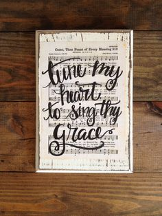 Come Thou Fount of Every Blessing Hymn Board by ImperfectDust