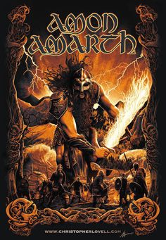 Amon Amarth SURTUR RISING : CHRISTOPHER LOVELL