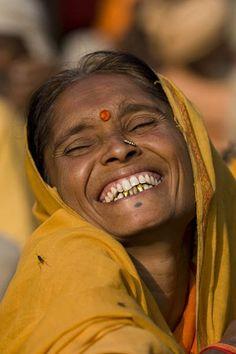 wonderful bright smile