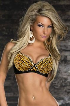 b33cb921dd Lingerie and Things - Dazzling Rhinestone Bra Gold