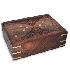 Handmade Wood Jewelry Boxes Brass Inlay Work