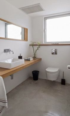 You can still change your bathroom look, even using the littlest amount of money that you have. The only way to solve it, you can use the concrete bathroom flooring Laundry In Bathroom, Bathroom Renos, Basement Bathroom, Bathroom Interior, Small Bathroom, White Bathrooms, Ada Bathroom, Bathroom Marble, Bathroom Black