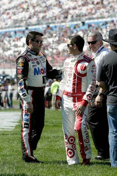 Tony Stewart and Kyle Larson.  Kyle Larson is the real deal folks, watch this young man fly! http://www.pinterest.com/jr88rules/nascar-2014/ #NASCAR2014