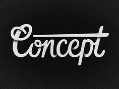 - Concept typo -  Ombres et courbes ++