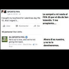Futbol de Locura: La mujer que se arrepintió en Facebook por comprarle a su novio el FIFA 15