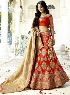 Shop for Designer New Indian Wedding Lehenga Cholis and Bridal wear Ghagra Cholis for Women. Buy Rajasthani Lehenga Choli Online Shopping in India. Latest Fashion Flared Lehengas for Reception and Party. Indian Wedding Lehenga, Bridal Lehenga Choli, Indian Lehenga, Indian Bridal Wear, Red Lehenga, Indian Wedding Outfits, Bridal Outfits, Indian Outfits, Bridal Dresses