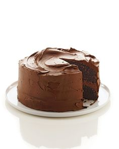 Chocolate Cake Recipes: This chocolate-buttermilk cake is great for a special occasion.