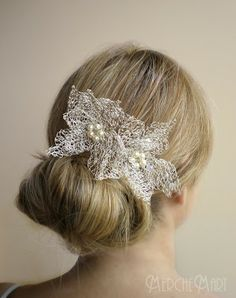Great for long hair and the bride who doesn't want a veil
