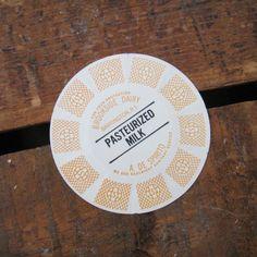 Vintage Brookside Dairy Paper Milk Cap  Extra by bostonbaglady