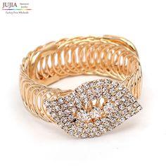 Elegance charm Women Bijoux Fashion Geometric crystal cuff  Bracelets Bangles Factory Wholesale