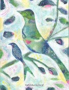 Bird, Birds, Bird Art, Nature Art Print, Bird Art Print, Bird Artwork, Bird Wall Art, Bird Decor, Whimsical Art, Nature Art, Nature Artwork by Lydiasdrawingboard on Etsy