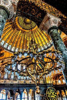 Hagia Sophia main interior, Istanbul, Turkey