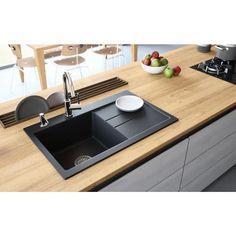 Granite Kitchen Sinks, Drop In Sink, Single Bowl Kitchen Sink, New Kitchen, Grey Kitchen Sink, Best Kitchen Sinks, Granite Composite Sinks, Composite Kitchen Sinks, Inset Sink