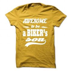 AWESOME TO BE A BIKERS SON #sunfrogshirt