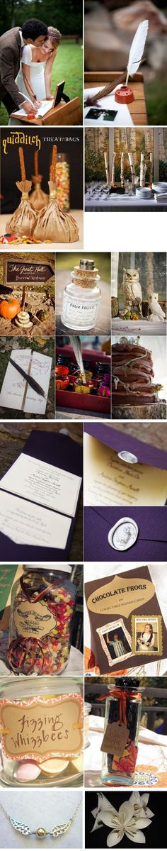 Harry Potter Wedding on http://itsabrideslife.com
