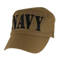 c44f0f2b515 Please enjoy this officially licensed US Navy Flat Top Coyote Brown Ball Cap.  This cap