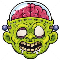 Find Vector Illustration Cartoon Monster Zombie stock images in HD and millions of other royalty-free stock photos, illustrations and vectors in the Shutterstock collection. Zombie Kunst, Art Zombie, Zombie Cartoon, Zombie Face, Graffiti Art, Graffiti Drawing, Graffiti Lettering, Zombie Drawings, Cartoon Drawings