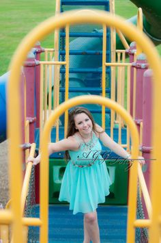 Lydia on the playground. - Senior Portrait 2014