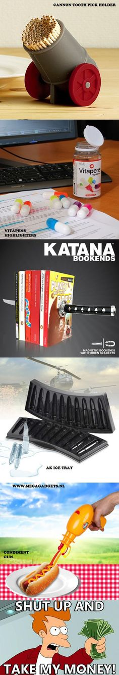 Fun and creative gadgets for the kitchen.