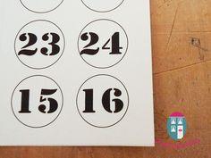 Adventskalenderzahlen zum aufkleben von Puddingschule-Meterware auf DaWanda.com