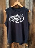 Midnight Toker Muscle Tee Blk/Wht | Bandit Brand General Store