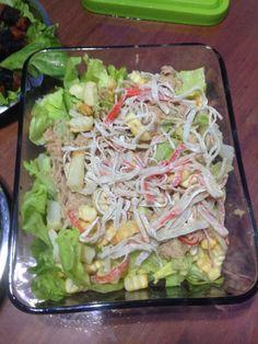 Tuna with Crab Stick Salad