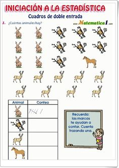 """¿Cuántos animales cuentas?"" (Ficha de iniciación a la estadística de Primaria) Comics, Trail Mix Kids, Bar Graphs, 1st Grades, Index Cards, Short Stories, Comic Book, Comic Books"