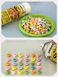 How to preserve conversation heart candies for crafting