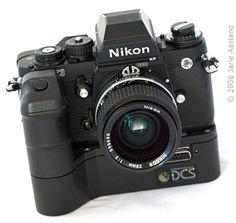 Kodak DCS 100  1.3 megapixel Nikon F3 based Kodak DCS (Digital Camera System)