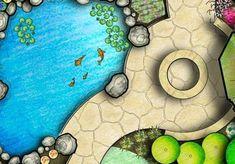 Beautiful Full Color Landscape Designs from Hiner Landscapes - Landscape Plans Landscape Architecture Drawing, Landscape Design Plans, Garden Design Plans, Landscape Drawings, Landscapes, Modern Landscaping, Landscaping Tips, Garden Landscaping, Pond Design