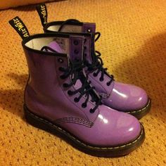Ladies Dr Martens Boots Uk5 Purple Air Wair The Original Docs Girls Used Once   eBay