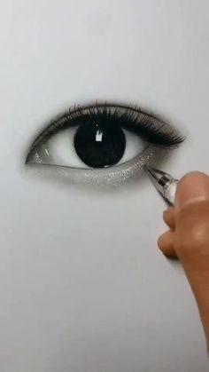 Art Drawings Beautiful, Art Drawings Sketches Simple, Pencil Art Drawings, Realistic Drawings, Oil Pastel Drawings, Eye Drawing Tutorials, Diy Canvas Art, Eye Art, Painting Techniques