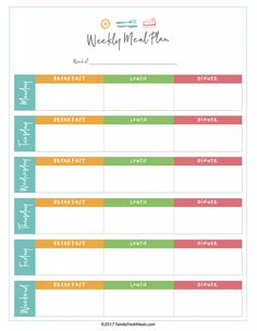 008 Free Printable Monthly Meal Planner Template Weekly With Grocery List Menu Planning Templates Snacks Daily Meals Plan Printables Family Fresh Outstanding Ideas Worksheet Family Meal Planner, Monthly Meal Planner, Weekly Menu Planners, Personal Planners, Weekly Meal Plan Family, Weekly Meal Plan Template, Meal Planner Template, The Plan, How To Plan