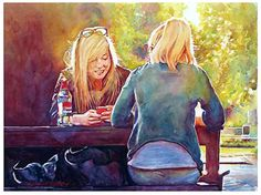 """Smile by Graham Berry Watercolor ~ 19"""" x 27"""""""