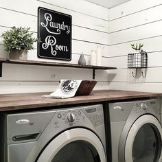 "Farmhouse laundry room  Denise (@themodestfarmhouse) on Instagram: ""We still have a few things we want to do in our laundry room but I wanted to share our progress and…"""