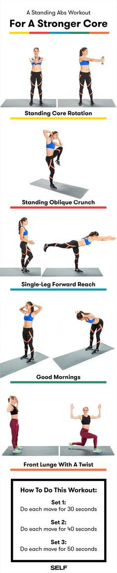 Here's the standing abs wokrout that'll help you avoid pain (but not the burn) while working your entire core.