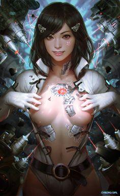 cyborg girl, KILART _ on ArtStation at http://www.artstation.com/artwork/cyborg-girl-c527d4ed-19fd-4466-8b28-98615d5ec94d