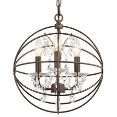 Kichler Lighting Barrington 18-in Distressed Black and Wood Rustic Single Seeded Glass Drum Pendant
