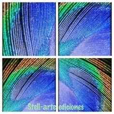 Pluma de pavo real..  Stell-arte imágenes y ediciones