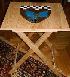 Plans to make folding table. This would be great with a checker board painted on top.