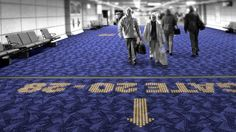 LED Carpets Guarantee You'll Never Get Lost In an Airport Again
