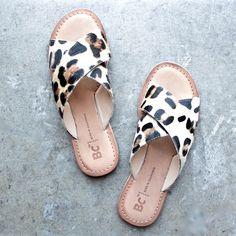bc footwear dear sandals in leopard