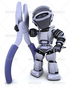 Robot with Pliers  #GraphicRiver         3D render of a robot holding a pair of pliers     Created: 16October11 GraphicsFilesIncluded: JPGImage Layered: No MinimumAdobeCSVersion: CS PixelDimensions: 4000x5000 Tags: 3d #build #carpentry #character #chrome #construction #cute #cyborg #electronics #equipment #fiction #future #futuristic #handyman #hardware #improvement #man #modern #pliars #render #repair #robot #scifi #technology #tool #work