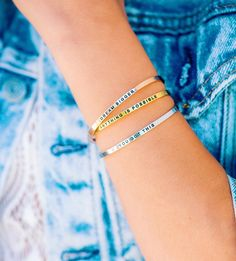 30ab6db9552 Dream Bigger Jewelry Mantraband Bracelets, Anything Is Possible, Big Jewelry,  Edgy Outfits,