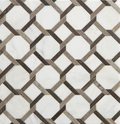 Walker Zanger Sterling Row Collection tile -a combination of porcelain tile and marble in tones of gray, white and black, Floor Patterns, Tile Patterns, Textures Patterns, Floor Design, Tile Design, Pattern Design, Floor Rugs, Tile Floor, Marble Floor