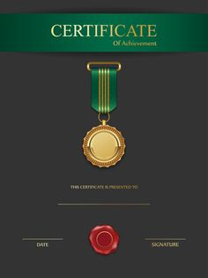 Black and Green Certificate Template PNG Image Green Certificate, Certificate Layout, Certificate Background, Certificate Of Achievement Template, Certificate Design Template, Creative Poster Design, Graphic Design Posters, Typography Logo, Presentation Design