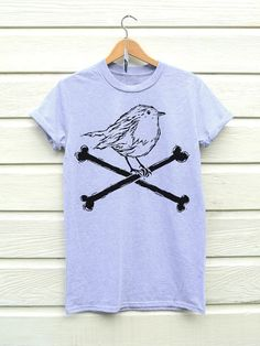 Robin Crossbones Christmas T-shirt by Ben Prints on Etsy