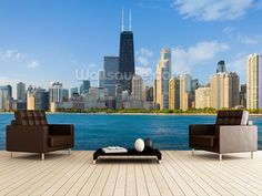 Not a particularly beautiful shot of Chicago, but the 'infinity pool' effect with the water filling the bottom half of the wall is very effective.